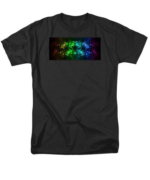 Cosmic Alien Eyes Pride Men's T-Shirt  (Regular Fit) by Shawn Dall