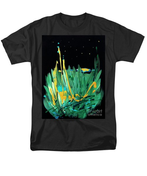 Men's T-Shirt  (Regular Fit) featuring the painting Cosmic Island by Holly Carmichael