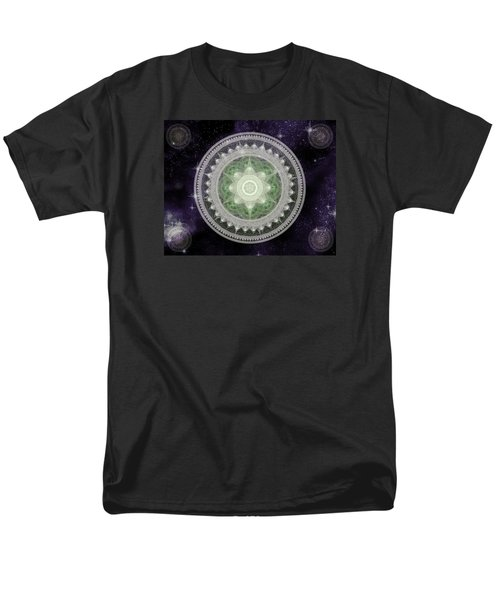 Cosmic Medallions Earth Men's T-Shirt  (Regular Fit) by Shawn Dall