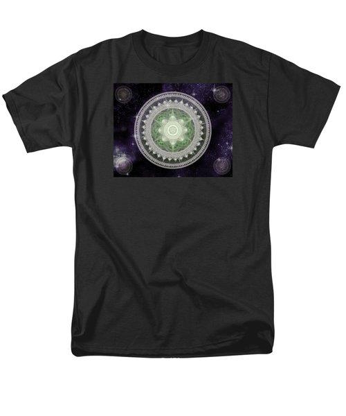 Cosmic Medallions Earth Men's T-Shirt  (Regular Fit)