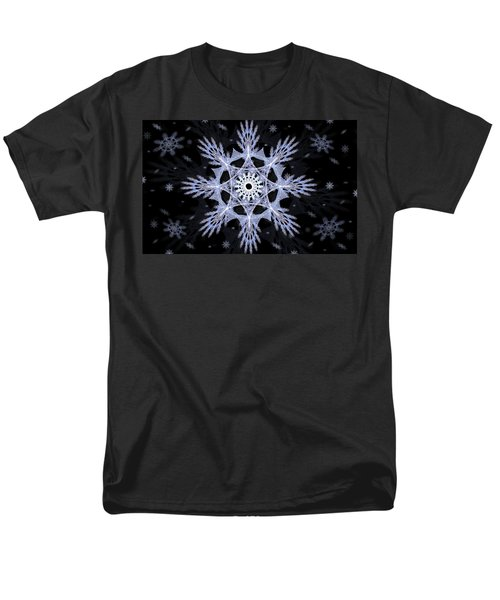 Cosmic Snowflakes Men's T-Shirt  (Regular Fit) by Shawn Dall