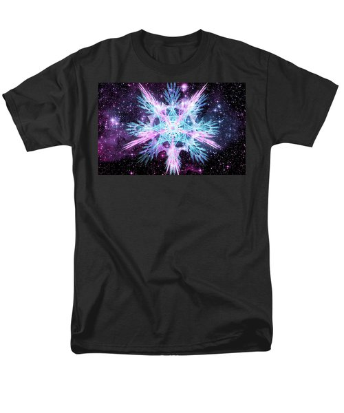 Cosmic Starflower Men's T-Shirt  (Regular Fit) by Shawn Dall