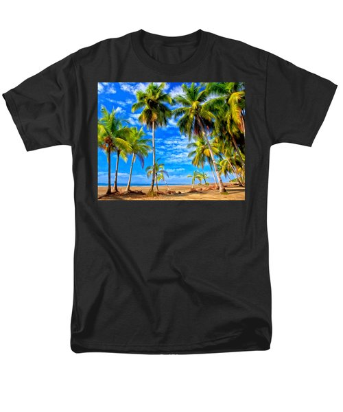 Costa Rican Paradise Men's T-Shirt  (Regular Fit) by Michael Pickett