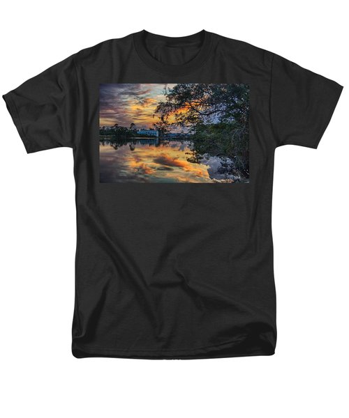 Men's T-Shirt  (Regular Fit) featuring the digital art Cotton Bayou Sunrise by Michael Thomas