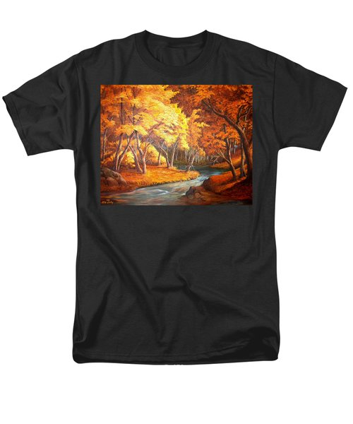 Country Stream In The Fall Men's T-Shirt  (Regular Fit) by Loxi Sibley