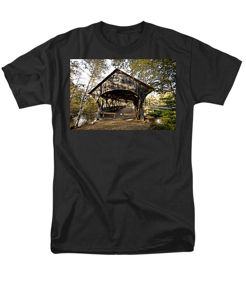 Covered Bridge Men's T-Shirt  (Regular Fit) by Bill Howard
