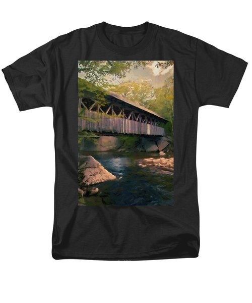 Men's T-Shirt  (Regular Fit) featuring the painting Covered Bridge by Jeff Kolker