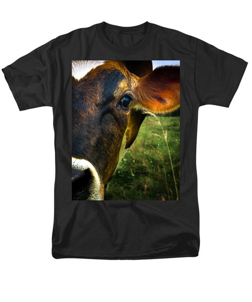 Cow Eating Grass Men's T-Shirt  (Regular Fit) by Bob Orsillo