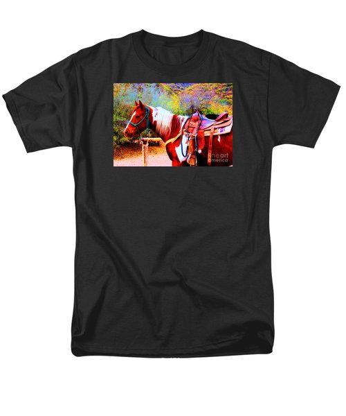Cowgirl Up Men's T-Shirt  (Regular Fit)
