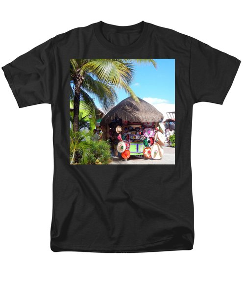 Men's T-Shirt  (Regular Fit) featuring the photograph Cozumel Souvernir Shopping by Debra Martz