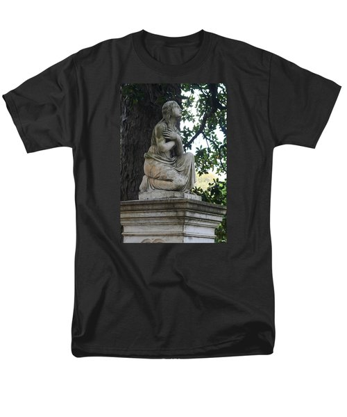 Men's T-Shirt  (Regular Fit) featuring the photograph I Cross My Heart Angel by Lesa Fine