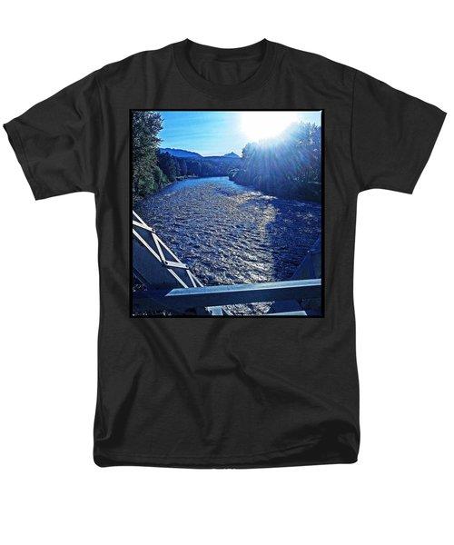 Men's T-Shirt  (Regular Fit) featuring the photograph Crossing The Final Bridge Home by Joseph J Stevens
