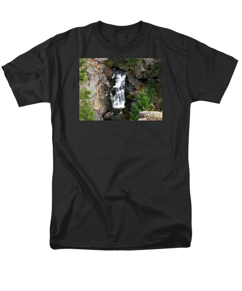 Crystal Falls Men's T-Shirt  (Regular Fit) by Greg Patzer