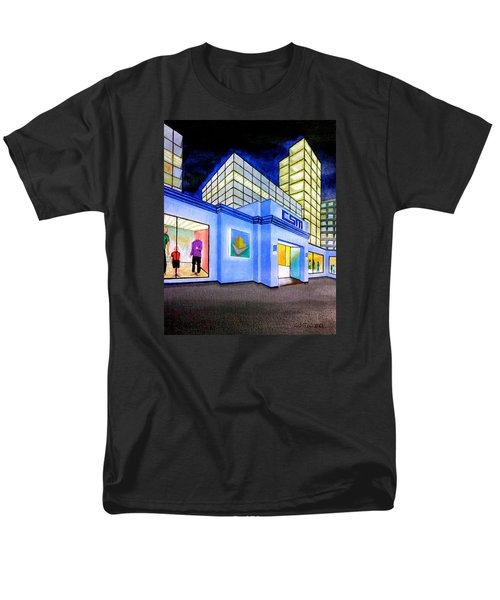 Men's T-Shirt  (Regular Fit) featuring the painting Csm Mall by Cyril Maza