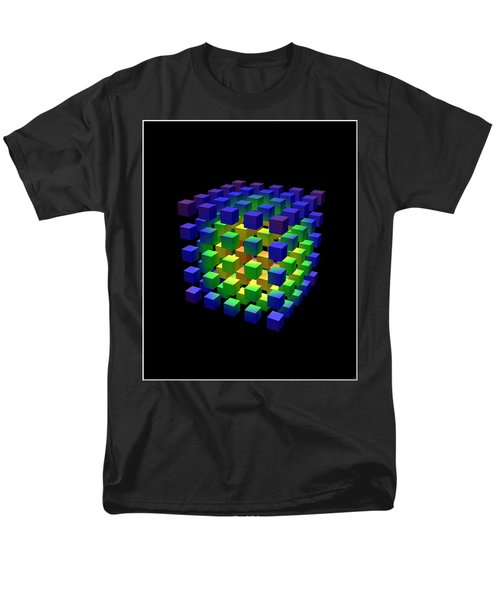 Men's T-Shirt  (Regular Fit) featuring the digital art Cube Of Cubes... by Tim Fillingim