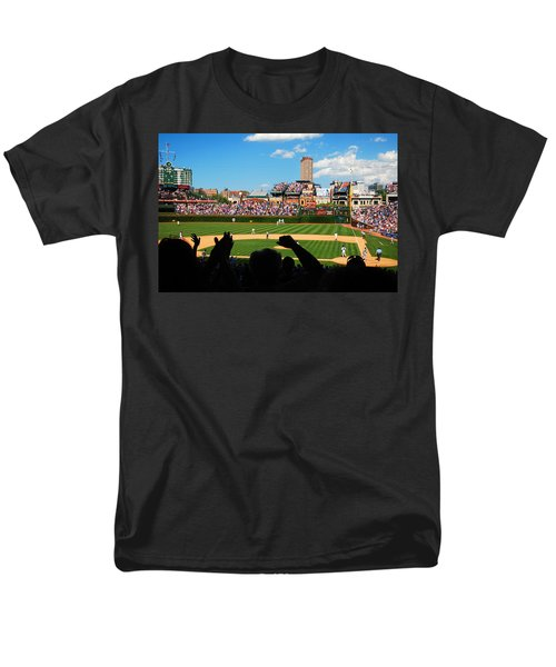 Men's T-Shirt  (Regular Fit) featuring the photograph Cubs Win by James Kirkikis