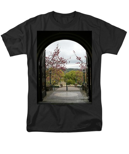 Men's T-Shirt  (Regular Fit) featuring the photograph Culinary Institute Of America At Greystone by Carol Lynn Coronios