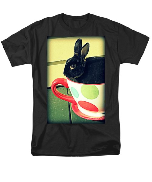 Cup O' Rabbit Men's T-Shirt  (Regular Fit) by Valerie Reeves