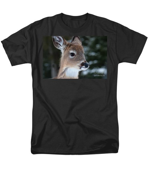 Men's T-Shirt  (Regular Fit) featuring the photograph Curious Fawn by Bianca Nadeau