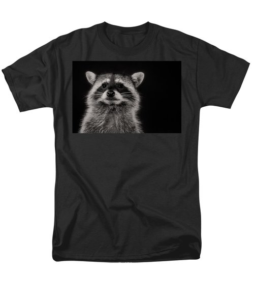 Curious Raccoon Men's T-Shirt  (Regular Fit) by Linda Villers
