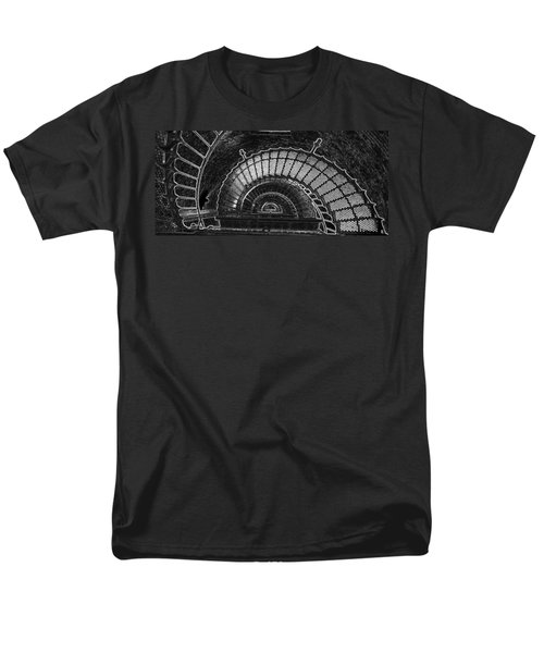 Men's T-Shirt  (Regular Fit) featuring the photograph Currituck Lighthouse Stairs by Greg Reed