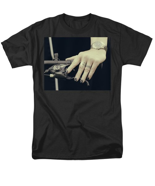 Men's T-Shirt  (Regular Fit) featuring the photograph Cycling Lady by Ari Salmela