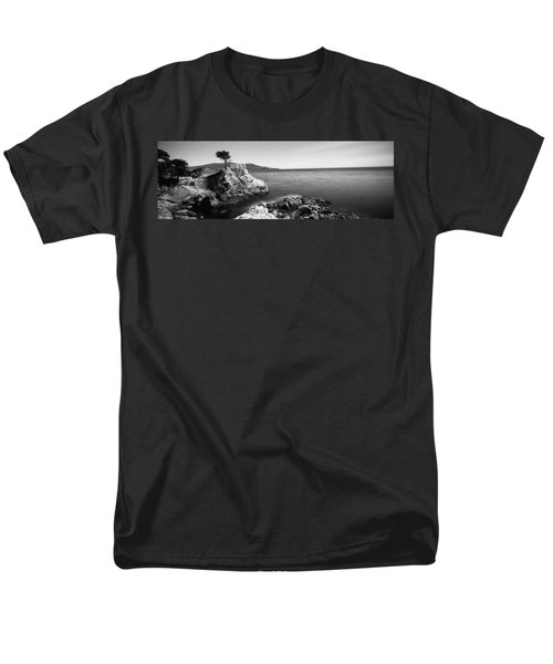 Cypress Tree At The Coast, The Lone Men's T-Shirt  (Regular Fit) by Panoramic Images