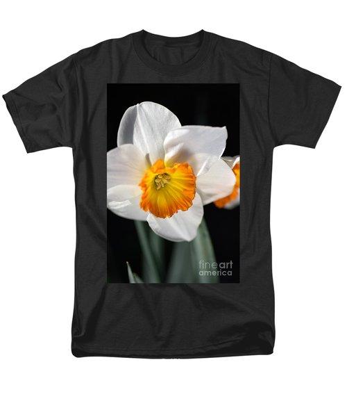 Daffodil In White Men's T-Shirt  (Regular Fit) by Joy Watson