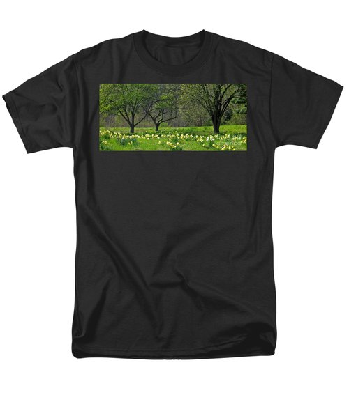Men's T-Shirt  (Regular Fit) featuring the photograph Daffodil Meadow by Ann Horn