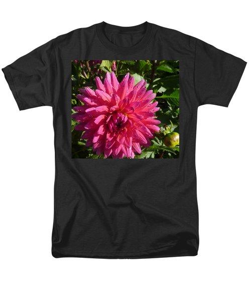 Men's T-Shirt  (Regular Fit) featuring the photograph Dahlia Pink by Susan Garren