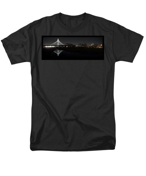 Dallas Skyline Hunt Bridge Color Men's T-Shirt  (Regular Fit) by Jonathan Davison