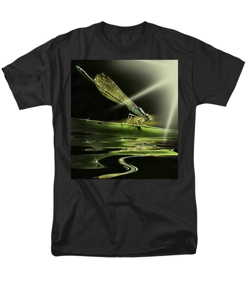 Damsel Dragon Fly  With Sparkling Reflection Men's T-Shirt  (Regular Fit) by Peter v Quenter