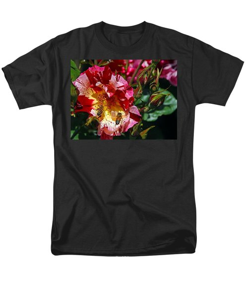 Dancing Bees And Wild Roses Men's T-Shirt  (Regular Fit) by Absinthe Art By Michelle LeAnn Scott