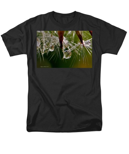Dandelion Droplets Men's T-Shirt  (Regular Fit) by Suzanne Stout