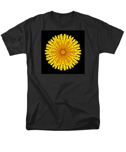 Men's T-Shirt  (Regular Fit) featuring the photograph Dandelion Flower Mandala by David J Bookbinder