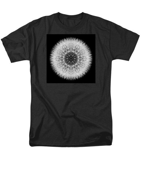 Men's T-Shirt  (Regular Fit) featuring the photograph Dandelion Head Flower Mandala by David J Bookbinder