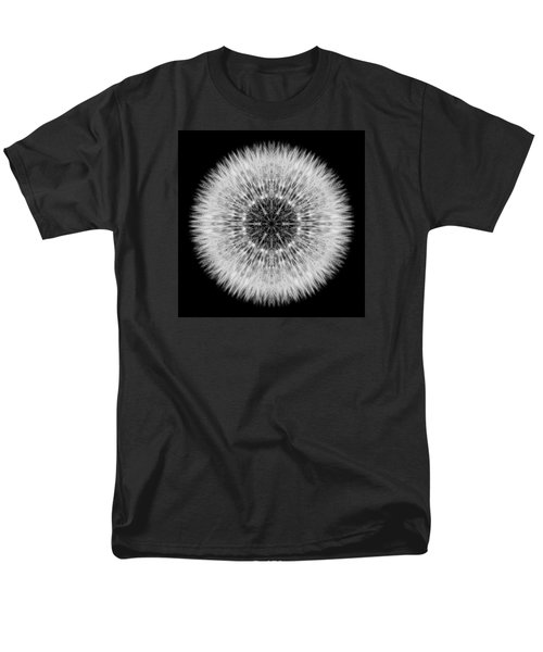 Dandelion Head Flower Mandala Men's T-Shirt  (Regular Fit)