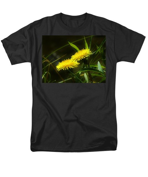 Men's T-Shirt  (Regular Fit) featuring the photograph Dandelions by Sherman Perry
