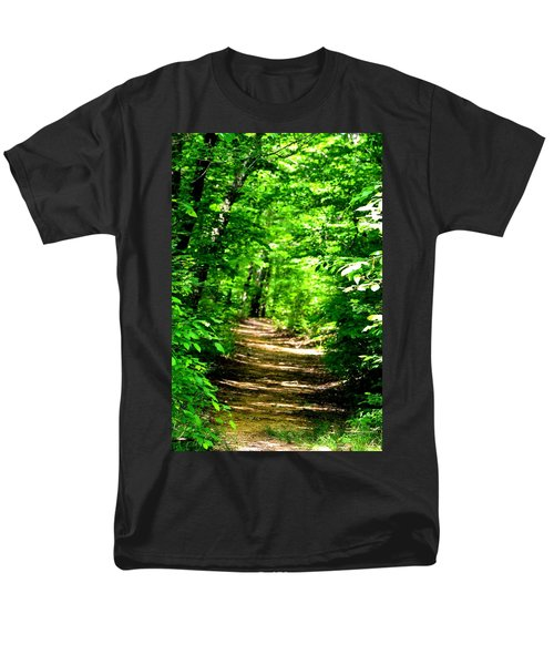Dappled Sunlit Path In The Forest Men's T-Shirt  (Regular Fit) by Maria Urso
