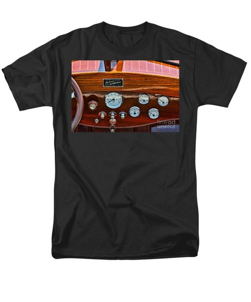 Dashboard In A Classic Wooden Boat Men's T-Shirt  (Regular Fit) by Les Palenik