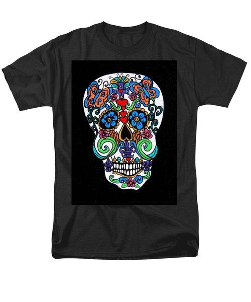Day Of The Dead Skull Men's T-Shirt  (Regular Fit)