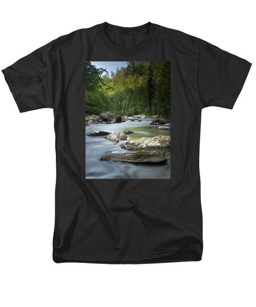 Men's T-Shirt  (Regular Fit) featuring the photograph Daybreak In The Valley by Andy Crawford