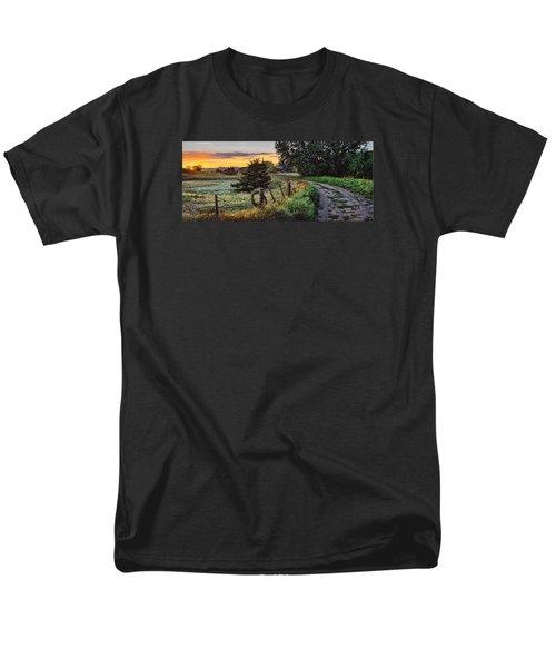Daybreak Southwest Corner Fenceline Men's T-Shirt  (Regular Fit) by Bruce Morrison