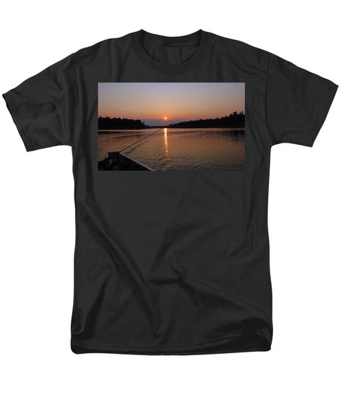 Men's T-Shirt  (Regular Fit) featuring the photograph Sunset Fishing by Debbie Oppermann