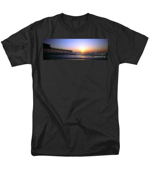 Men's T-Shirt  (Regular Fit) featuring the photograph Daytona Sun Glow Pier  by Tom Jelen