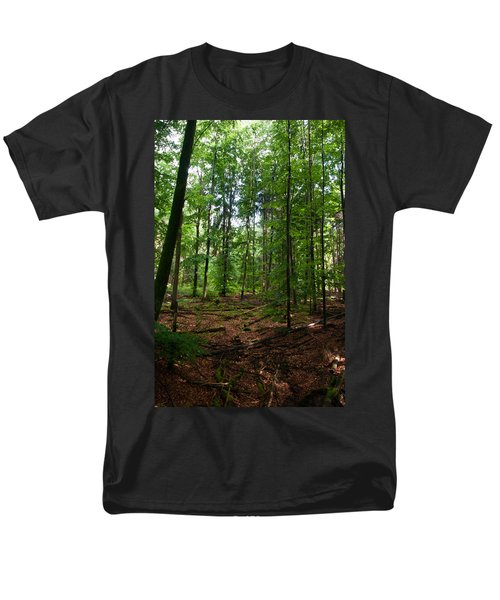 Deep Forest Trails Men's T-Shirt  (Regular Fit) by Miguel Winterpacht