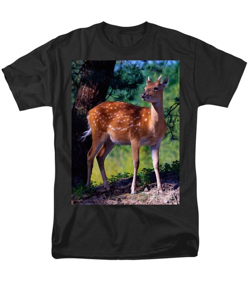 Deer In The Woods Men's T-Shirt  (Regular Fit) by Nick  Biemans