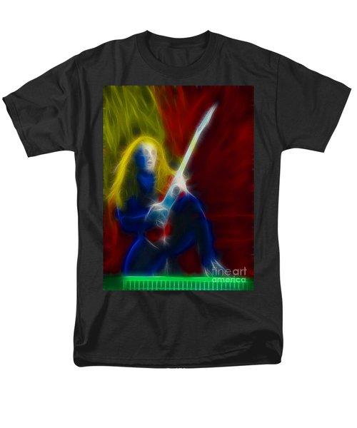 Def Leppard-adrenalize-ga5-vivian-fractal Men's T-Shirt  (Regular Fit) by Gary Gingrich Galleries