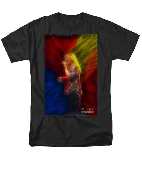 Def Leppard-adrenalize-joe-ga25-fractal Men's T-Shirt  (Regular Fit) by Gary Gingrich Galleries