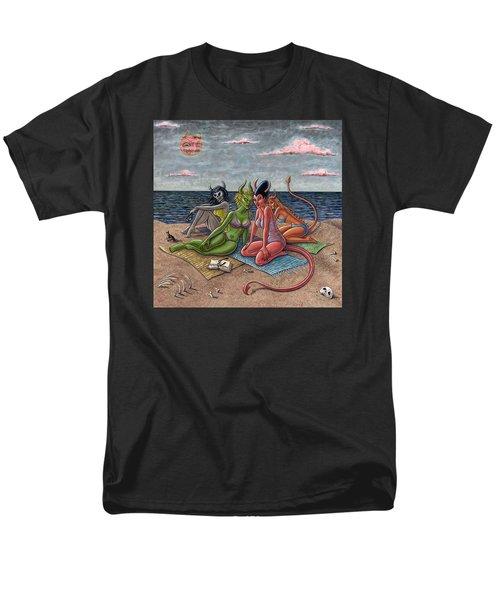 Demon Beaches Men's T-Shirt  (Regular Fit) by Holly Wood
